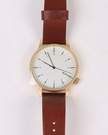 Komono Winston Regal Watch Chestnut