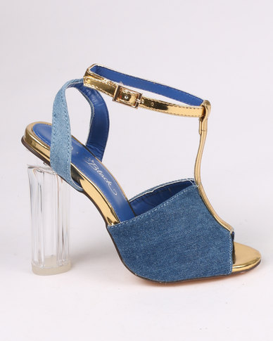 Miss Black Prinia High Heels Blue