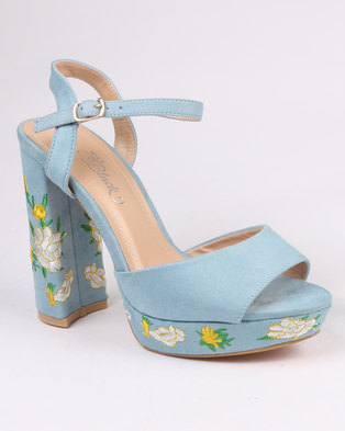 70947ce2647 Miss Black Cling Platform Sandal Blue