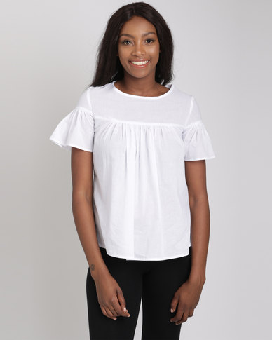 Utopia Babydoll Cotton Top White