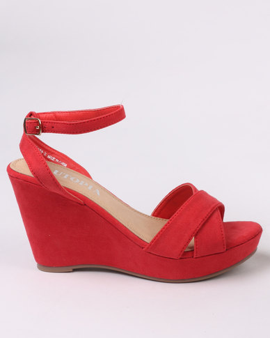 Utopia Wedge Sandal Red
