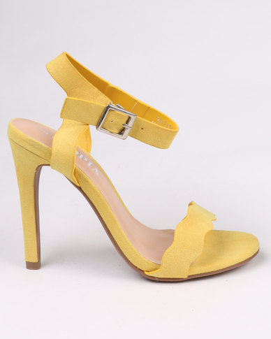 Utopia Scallop Barely There Heel Yellow