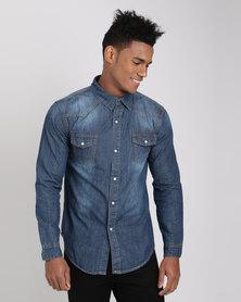 Utopia Men's Denim Shirt Blue