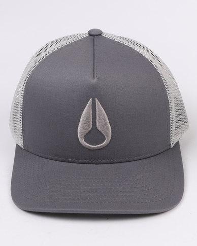 Nixon Iconed Trucker Hat Dark Grey  98b677454b5