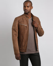 Issa Leo Billy- J Leather Jacket Rust Brown