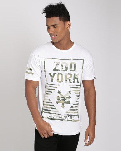 Zoo York Curve Hem Printed Tee White