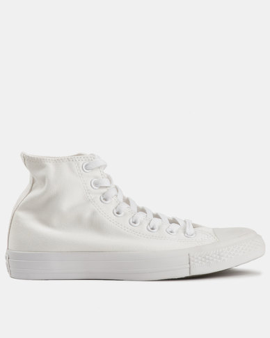 408f9117 Converse Men's Chuck Taylor All Star SMU Hi White Mono | Zando