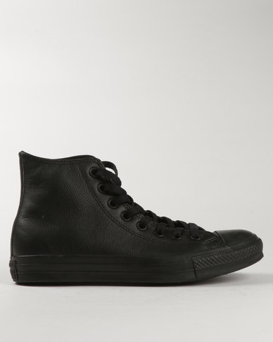 Converse All Star Chuck Taylor Black Leather Hi Tops