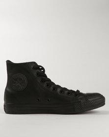 Converse Men's Chuck Taylor All Star Hi-Top Leather Black Mono