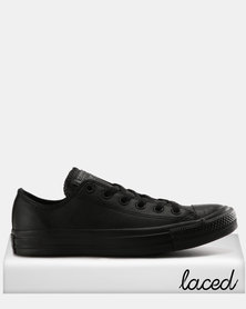 Converse Men's Chuck Taylor All Star OX Leather Low Black Mono