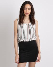 Utopia Stripe Twofer Dress Multi