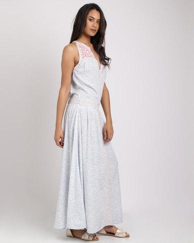 Sitting Pretty Indira Printed Maxi Dress Blue
