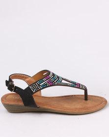 Pretty Feet Girls  Sandals Black