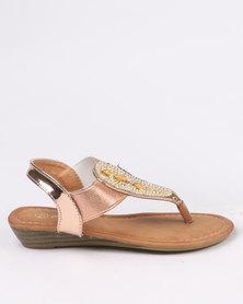Pretty Feet Girls  Sandal Rose Gold