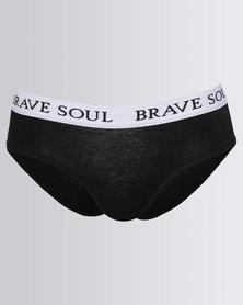 Brave Soul Knickers Branded Waistband Multi