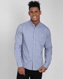 Crosshatch Almond Shirt Sky Blue