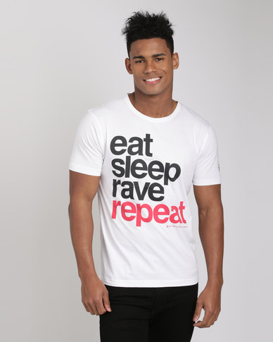 Xplicit Rave Repeat T-Shirt White