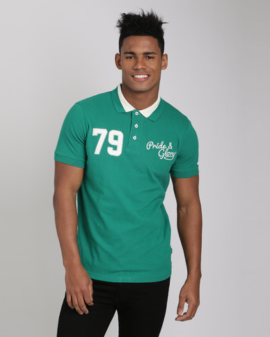 Pride & Glory Gaines Polo T-Shirt Green