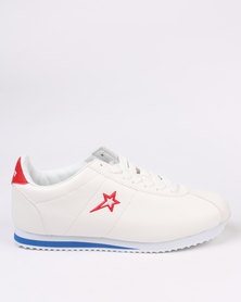 Soviet Thunderbird Casual Low Cut Lace Up Sneaker White
