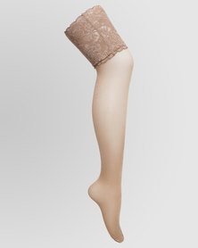 Falke 15 Bright Silk Stay Up With It Nude