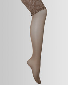 Falke Classic Backseam Stay Up Knee Highs With It Nude