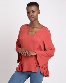 All About Eve Crash & Burn Plain Top Rust