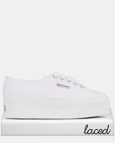 a10039e2cfab Superga Classic Canvas Full Wedge Sneakers White