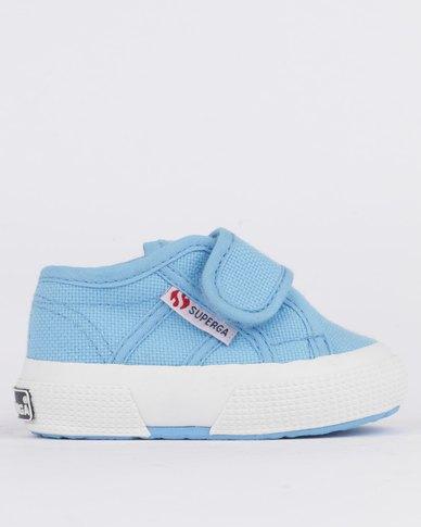fa0f4eb9f2d612 Superga Infants Classics Velcro Sneaker Blue