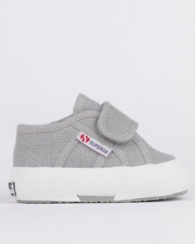 6e6dbee01709f8 Superga Infants Classics Sneaker Velcro Grey