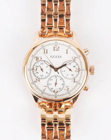 Guess Taylor Bracelet Watch Rose Gold-Tone