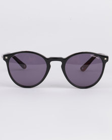 Sissy Boy Round Sunglasses Black/Red