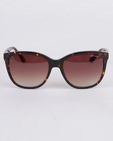 Sissy Boy Cat's Eye Sunglasses Brown Demi
