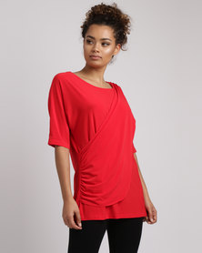 Famous Marien Top Red