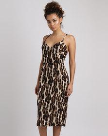 Famous Cherry Dress Animal Print