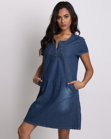 420b16bb1c29 Utopia Denim Dress Dark Blue