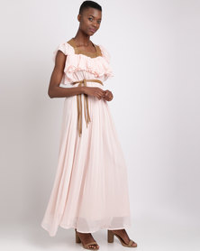 Sober Athea Maxi Dress Blush