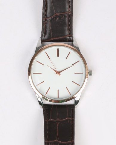 Digitime Reign Watch Brown
