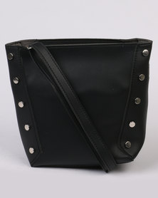 Joy Collectables Stud Detail Shoulder Bag Black
