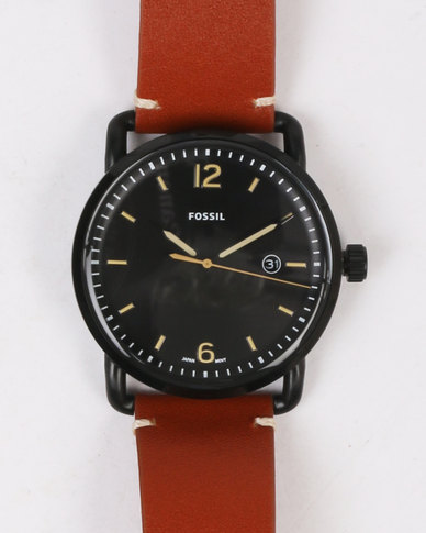 Commuter Smart Watch Brown Leather