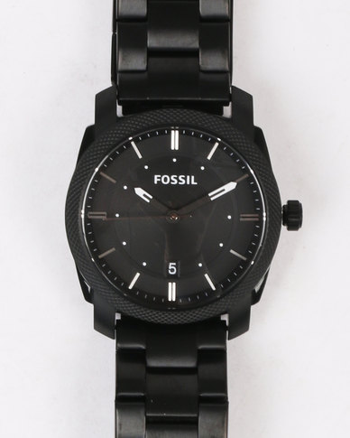Machine Mid Smoke Ip Black Dial Smart Watch