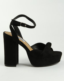 Madison Manila Block Heel Sandals Black