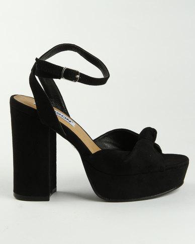 Madison Manila Block Heel Sandals Black