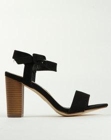 Madison Melantha Block Heel Sandals Black