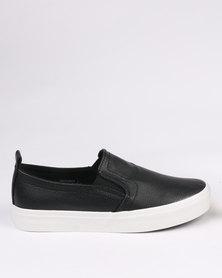 New Look Metallic Slip On Sneaker Black