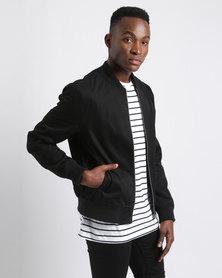 New Look Cotton Bomber Jacket Black