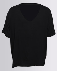 New Look Boyfriend Tee Black
