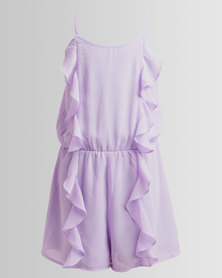 New Look Frill Front Playsuit Lilac