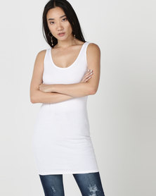 New Look Longline Vest White