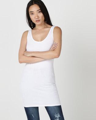New Look Longline Vest White