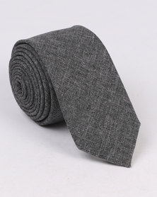 New Look Chambray Tie Grey